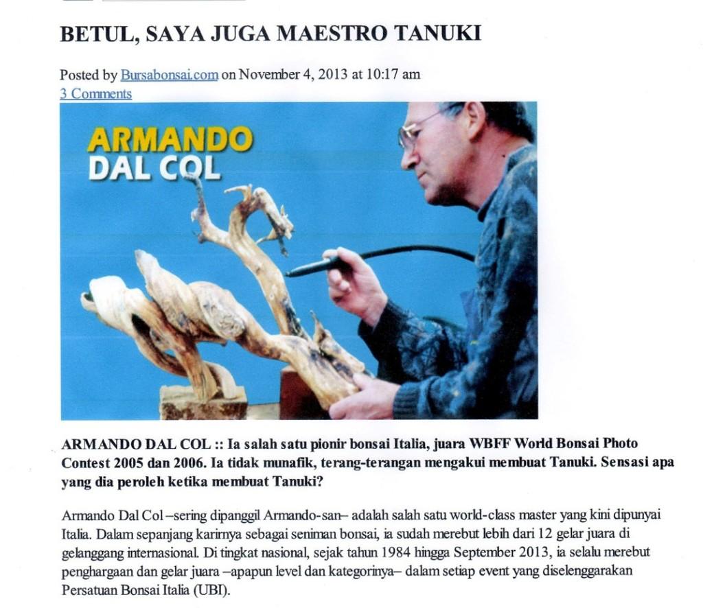 Armando nel sito indonesiano